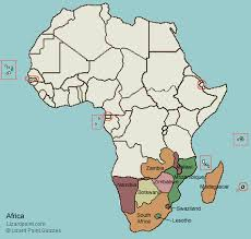 a picture of south africa map test your geography knowledge southern africa countries lizard