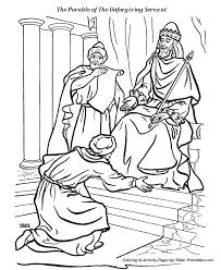 parable unforgiving servant coloring pages