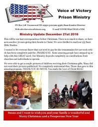 ministry updates the voice of victory prison ministry