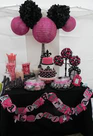 Home Party Decoration Captivating Pink And Black Birthday Party Decorations Cool