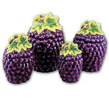 grape canister sets kitchen grape 3 d canisters set of 4 grapes new canister by kmc kk