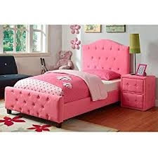 amazon com perfect diva princess upholstered girls twin bed and