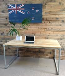 Pipe Desk Extra Thick Pipe Reclaimed Wood Desk Industrial Desk by Plywood And Galvanised Pipe Desk Made By Industrial Design Nz A