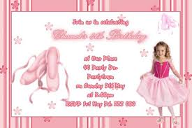 ballerina birthday invitations kawaiitheo com