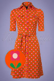 tante betsy 60s betsy bloms dress in orange