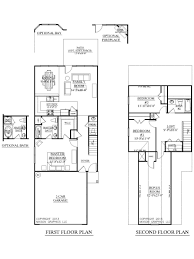 Floor Plans Two Story by Lot Narrow Plan House Designs Craftsman Narrow Lot House Plans