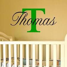 boys wall stickers easy to fit name with capital letter for boy or girl choose from 18 beautiful high quality colours