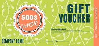 green gift voucher vector illustration vector illustration of gift voucher with label for sales promotion