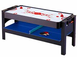 air hockey table reviews hathaway triple threat air hockey pool ping pong combo table
