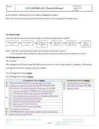 quality manual template eliolera com