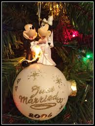ornaments just married ornament