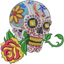 floral embroidery design flower skull from machine embroidery designs