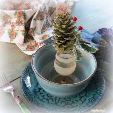 winter snowy pine cone craft debbiedoos