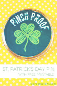 st patricks day craft with free printable
