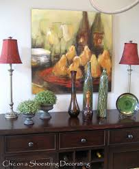 Buffet Table For Dining Room Dining Room Buffet Table Decorating Ideas 13089