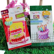 on sale shining card 3d handmand happy birthday message