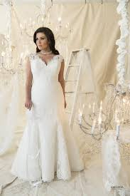 plus size fit and flare wedding dress fleury callista plus size wedding dresses