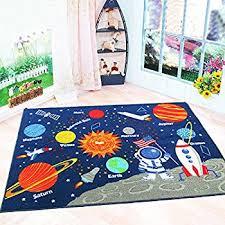 amazon com kids rug educational learning carpet galaxy planets