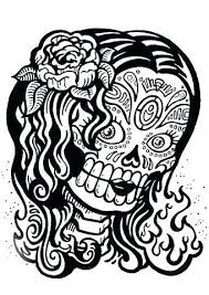printable coloring pages sugar skulls printable girl coloring pages sugar skull coloring pages printable