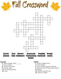 fall crossword puzzle free printable
