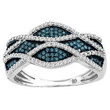 blue and white engagement rings aonejewelry best value source for gemstone and jewelry