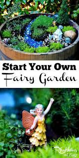 start your own fairy garden rhythms of play