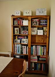 sew graceful the bookshelves before and after