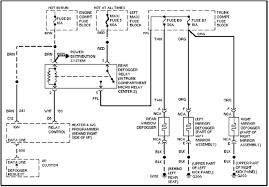 concours window defogger circuit and wiring diagram