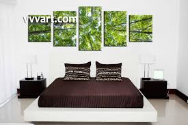 5 piece green leafy scenery trees canvas wall art bedroom wall art 5 piece canvas art prints forest canvas print nature artwork