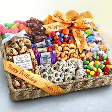 birthday basket birthday party chocolate candies and crunch gift basket aa4087