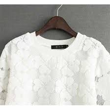 lace flowers sweatshirt pullover womens crew neck sweatshirt cheap