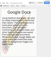 create a background image or watermark on a google