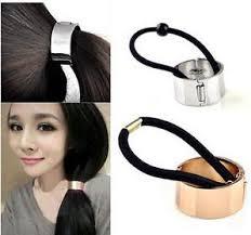 hair holder european metal circle hair tie holder ring cuff ponytail elastic