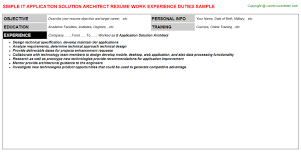 Mobile Architect Resume Servicenow Solution Architect Resumes Samples