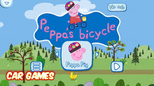 peppa pig kids bicycles and balloons board game toys video