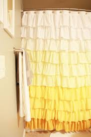 Ruffled Shower Curtain Anthropologie Ruffle Shower Curtain Tutorial Elle Apparel By