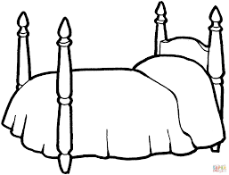 bed coloring free printable coloring pages