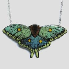 butterfly jewelry necklace images Hand painted butterfly jewelry ox art jewelry jpg