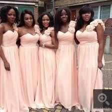 light bridesmaid dresses 2017 light pink one shoulder bridesmaids dresses chiffon a line
