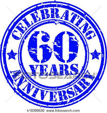 60 years anniversary clipart of celebrating 60 years anniversary gr k18399530 search