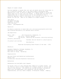 examples of resumes resume amazing simple objective example