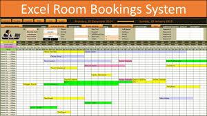 Restaurant Reservation Sheet Template Excel Room Bookings Calendar