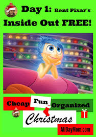 redbox thanksgiving code rent inside out free cheap christmas fun day 1
