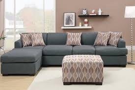 Sofa With Reversible Chaise Lounge by Grey Fabric Chaise Lounge Steal A Sofa Furniture Outlet Los