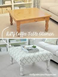 Padded Ottomans Living Room Diy Turn A Coffee Table Into An Upholstered Ottoman