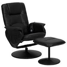 Chairs That Recline Latitude Run Leather Heated Reclining Massage Chair U0026 Ottoman