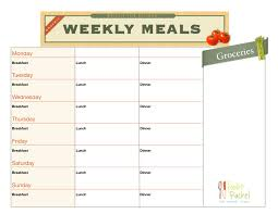 menu planners templates 8 best images of meal planning chart printable meal planner free printable meal planner chart
