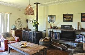Eclectic House Decor - bohemian home decor living room rustic with armchair coffee table