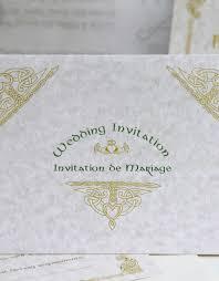 bilingual wedding invitations tent style celtic wedding stationery