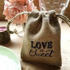 burlap wedding favors wedding favor burlap bags printed is sweet rustic burlap